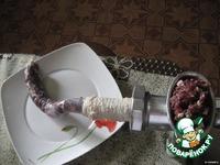 Домашняя колбаса Дичь одомашненная ингредиенты
