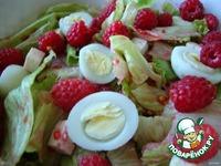 Салат с малиной и перепелиными яйцами ингредиенты