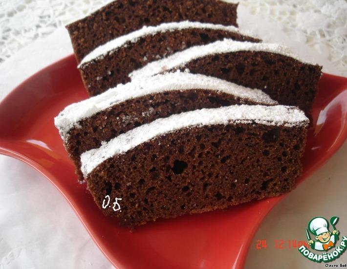 Рецепт: Быстрый шоколадный кекс