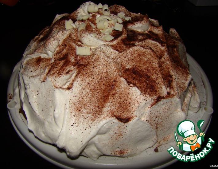 Рецепт: Торт Сливочно-шоколадный