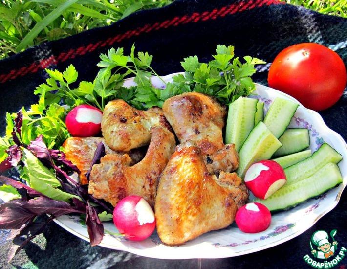 Рецепт: Куриные крылышки-гриль