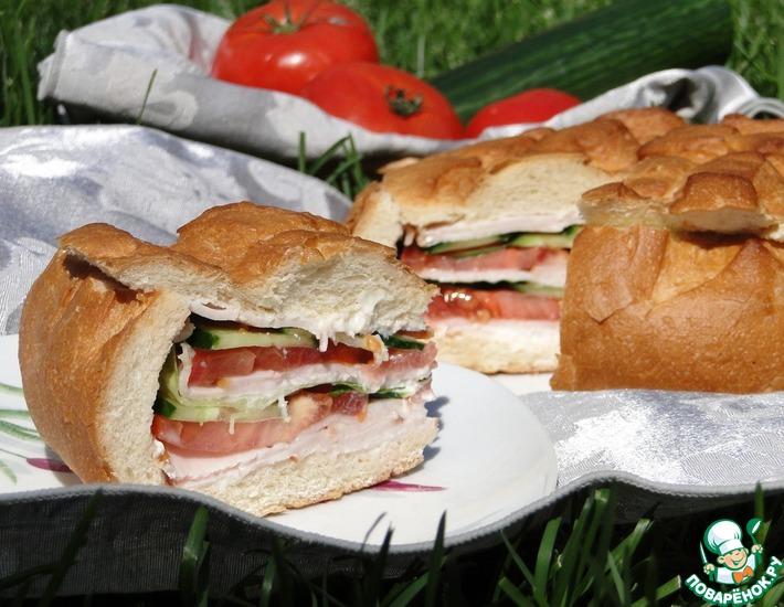 Рецепт: Сэндвич Один на всех