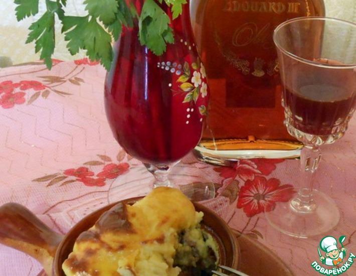Рецепт: Крестьянское блюдо в барской подаче