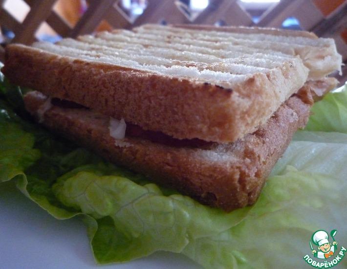 Рецепт: Тост Завтрак на природе
