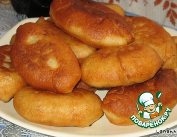 Рецепт: Пирожки на заварном дрожжевом тесте