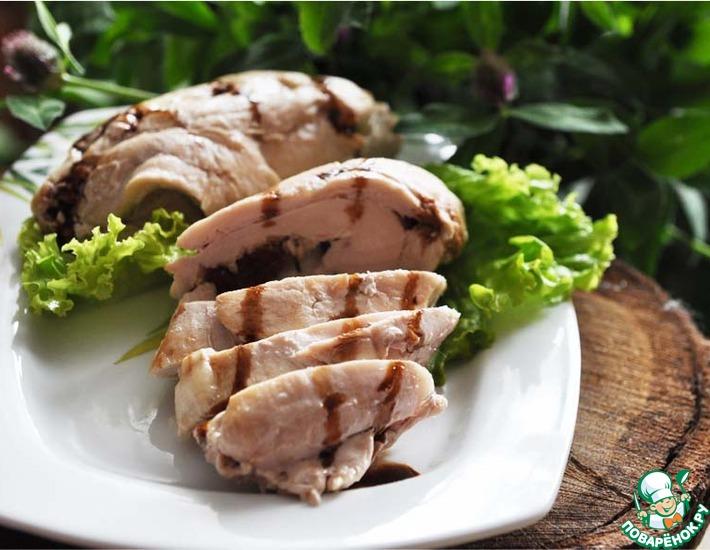 Рецепт: Куриное филе с начинкой в фольге