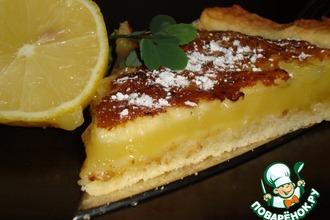 Рецепт: Лимонный пирог фасон Крем-брюле