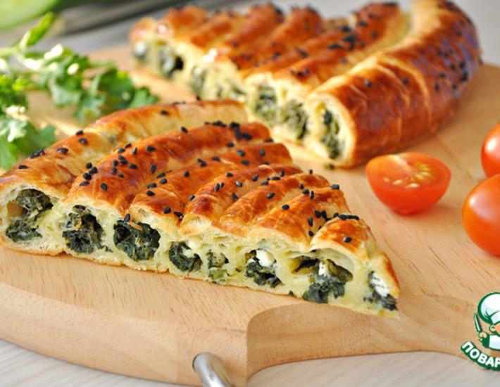 Рецепт: Пирог со шпинатом и сыром