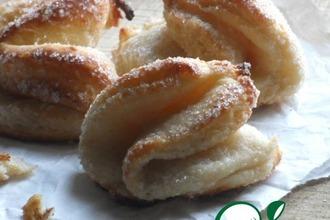 Рецепт: Творожное печенье Ракушки