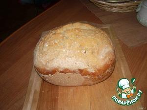 Тонковат, надо форму купить, но вкусный.   Неделю назад делал в хлебопечке.