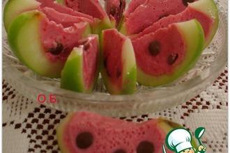 Рецепт: Десерт Арбузные дольки