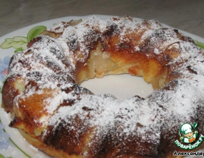 Рецепт: Десерт для ленивых Перина из яблок