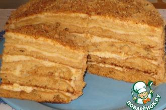 Рецепт: Торт медовый «Любимый»