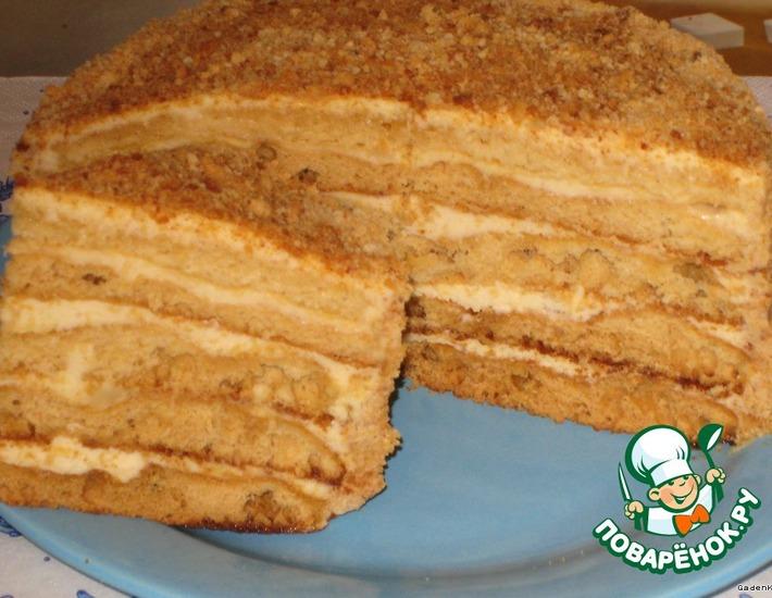 Торт медовый «Любимый» – кулинарный рецепт