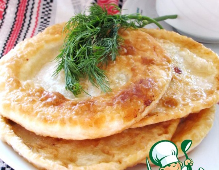Рецепт: Лепешки по спирали с сыром и творогом