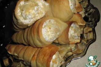 Рецепт: Пирожные Слоеные трубочки