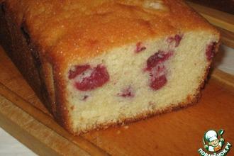Рецепт: Очень вкусный кекс с вишней