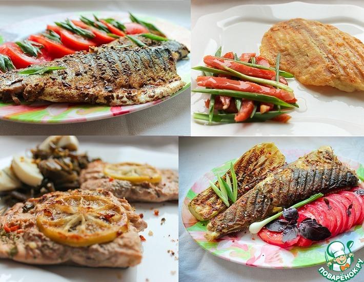 Рецепт: Ассорти из рыбки гриль