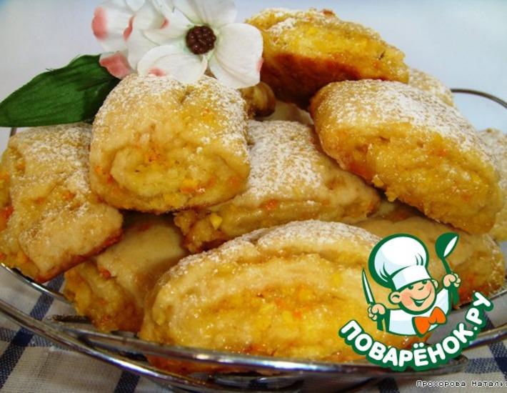Рецепт: Печенье Апельсиновая нежность
