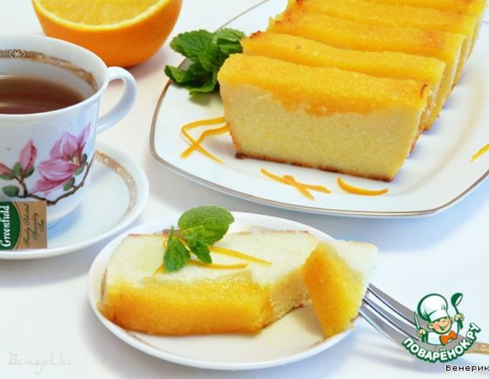 Рецепт: Творожно-апельсиновая запеканка