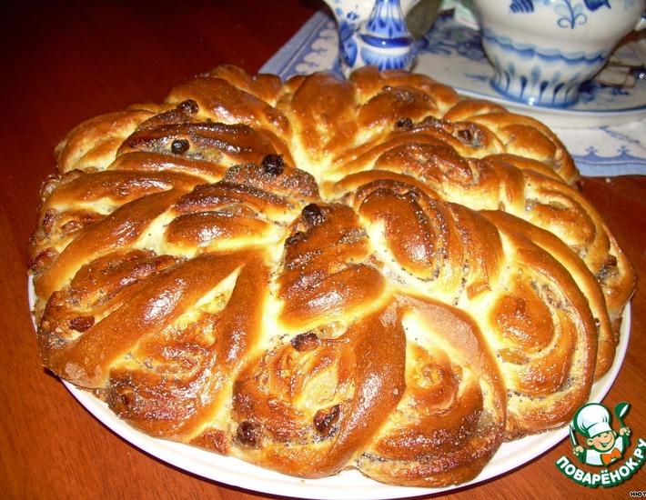 Рецепт: Пирог-рулет из венского теста