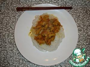 Рецепт Карри из свинины с рисовой лапшой