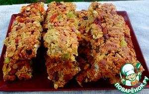 Овсяные батончики с орехами – кулинарный рецепт