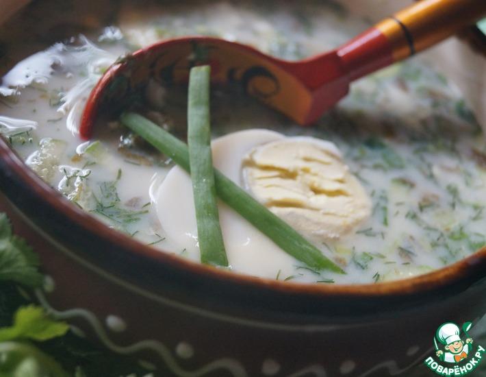 как приготовить овощной холодный суп из щявеля