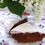 Шоколадно-кофейный пирог с кремом