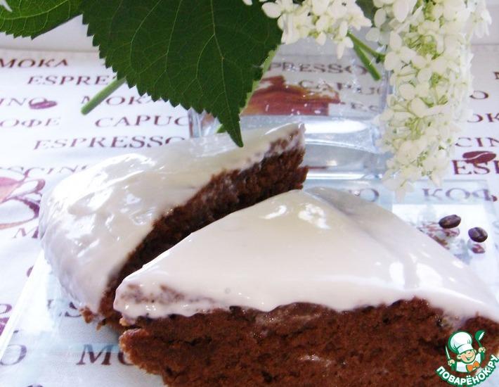 Рецепт: Шоколадно-кофейный пирог с кремом