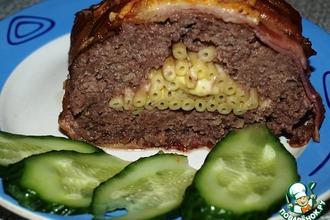 Рецепт: Мясной рулет с макаронами Званый ужин