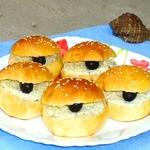 Бутерброды Ракушки с черным жемчугом