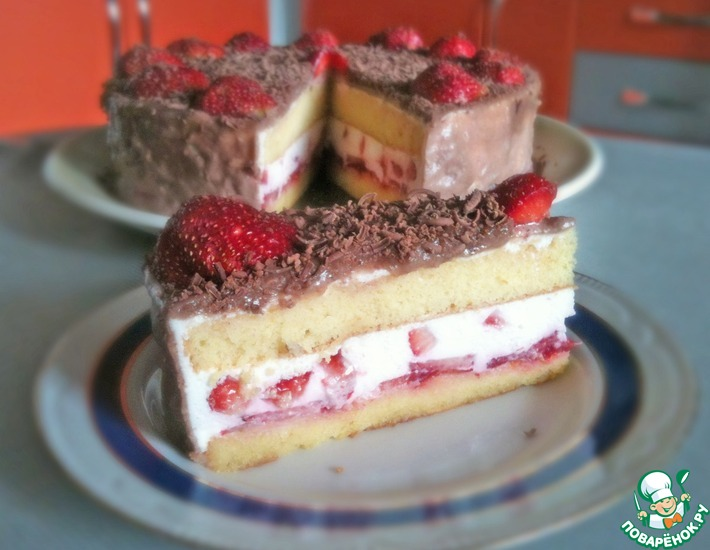 Рецепт: Торт с нежнейшим творожным кремом