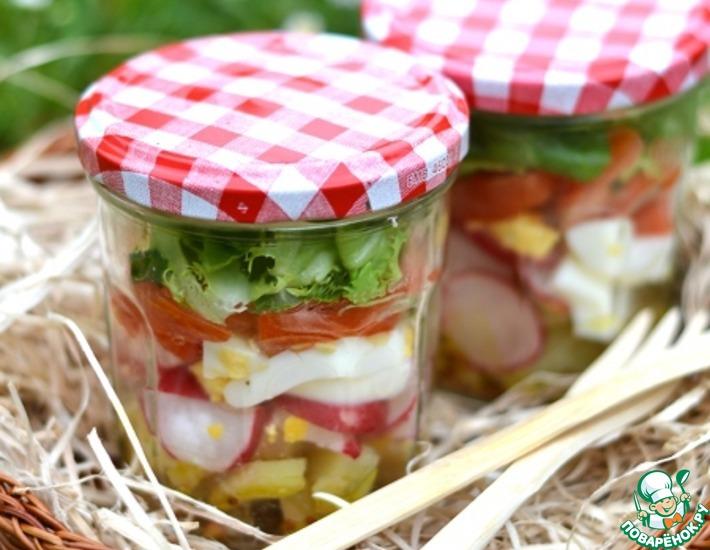 Рецепт: Салат в банке Походный
