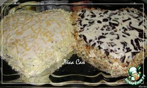 Обсыпать бока салатов желтком и грецкими орехами.