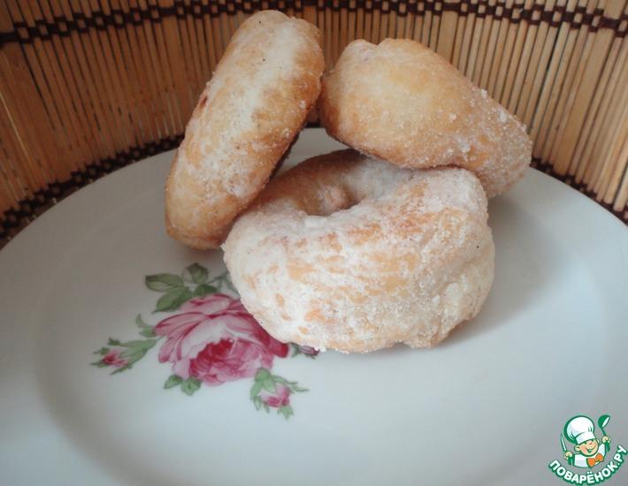 Рецепт: Пончики обыкновенные и универсальное дрожжевое тесто
