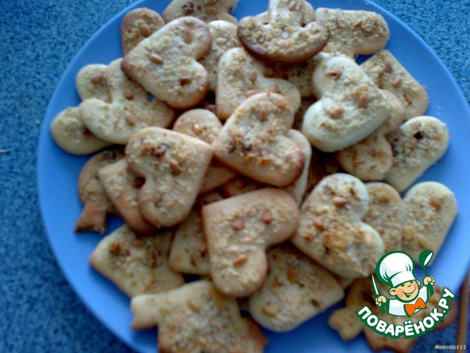 Песочное печенье с орешками