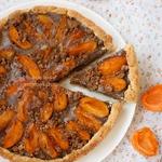 Летний пирог из абрикосов с фланом
