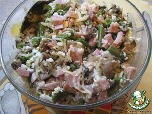 Салат из утки со стручковой фасолью и рукколой – кулинарный рецепт