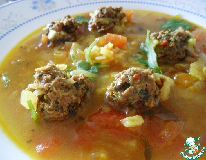 Рецепт: Суп с ароматными фрикадельками