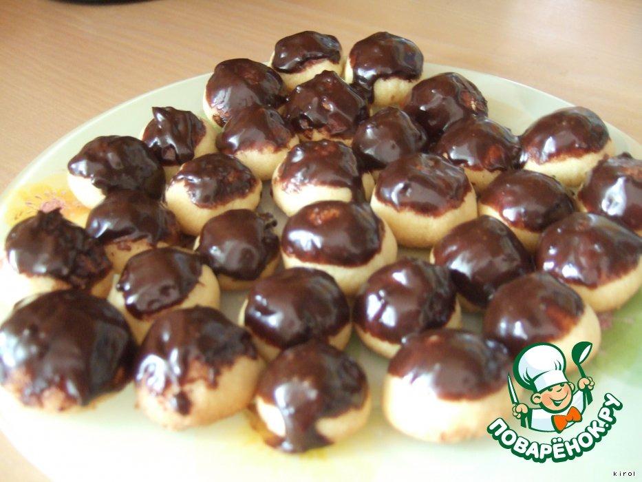 Индийское печенье Нан хати в шоколадной шапочке