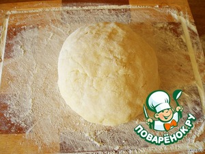 Here, our dough is coming up.