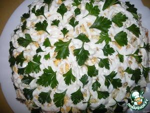 Салат «Ежик на полянке» – кулинарный рецепт
