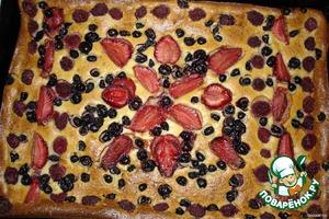 Ягодно-творожный пирог – кулинарный рецепт