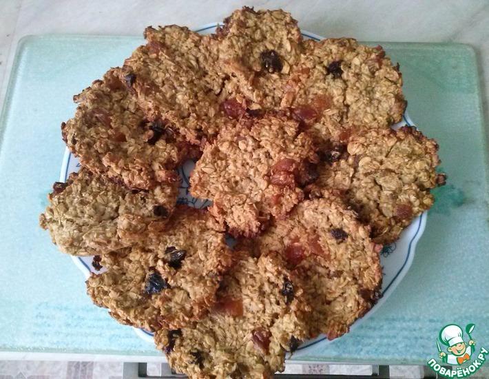 Рецепт: Диетическое овсяное печенье с ананасом