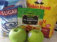 Шарлотка яблочная вертикальная ингредиенты