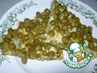 Яичница с зеленым горошком ингредиенты