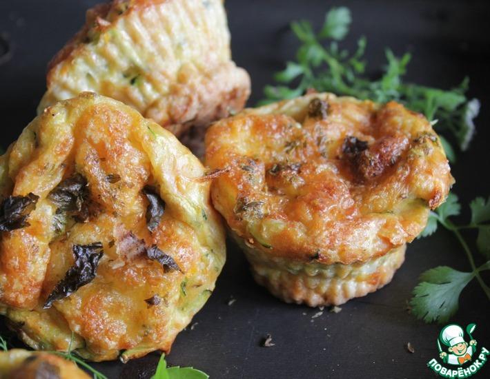 Рецепт: Морковно-кабачковые кексы