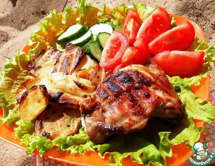 Рецепт: Курица и картофель в соусе Терияки