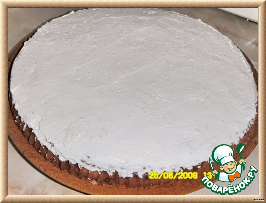 Миндальный торт с белым шоколадом